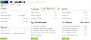 231 SEO rankings for google
