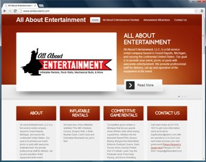 All About Ent WordPress website