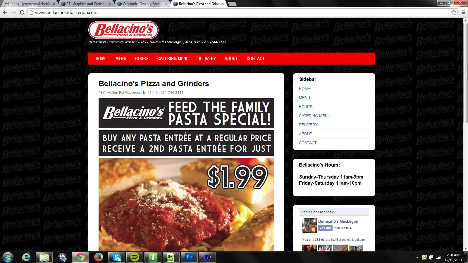 Bellacino's Website