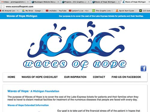 Waves of Hope static php website build
