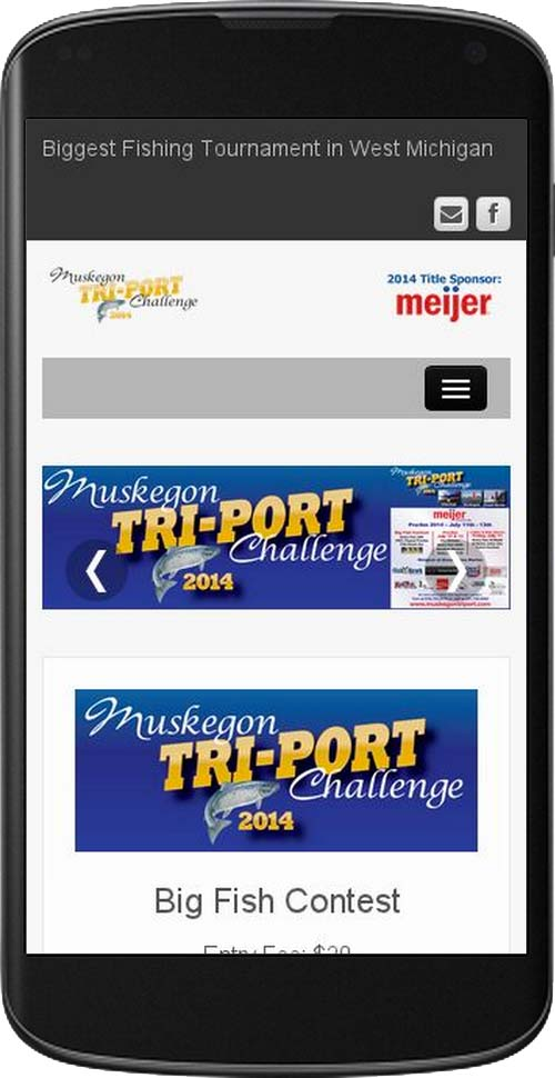 triport website phone screenshot