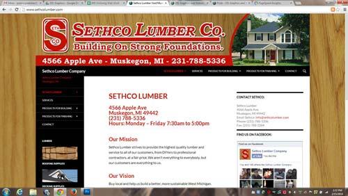 sethco website rebuild screenshot