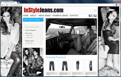 In style jeans e-commerce site