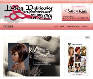 Lindsey Dutkiewicz Hairstylist website