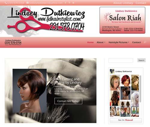 Hair salon website