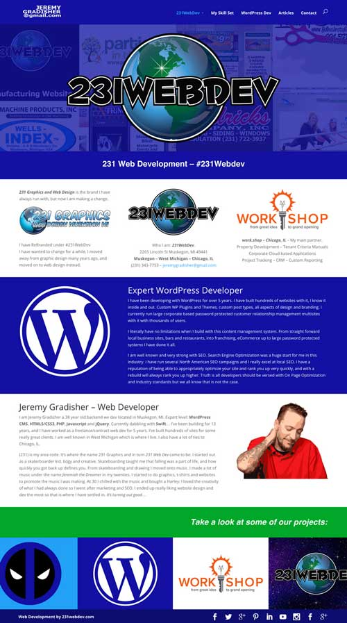 231 WebDev website screenshot