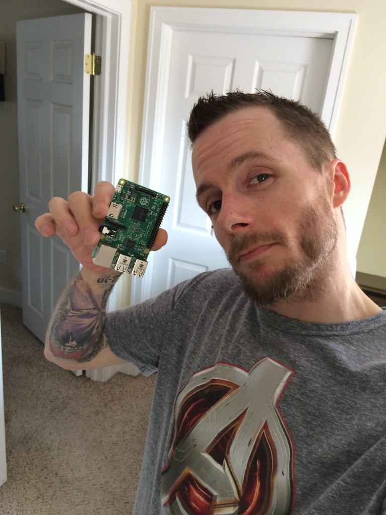 Jeremy Gradisher with Raspberry PI