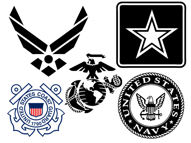 Military Logos Vector Army Navy Air Force Marines Coast Guard