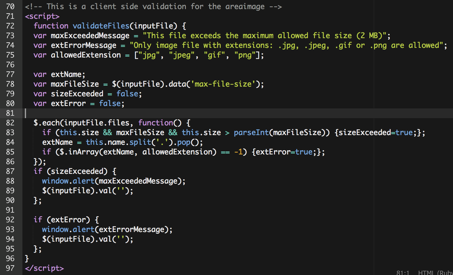 Javascript bottom of form