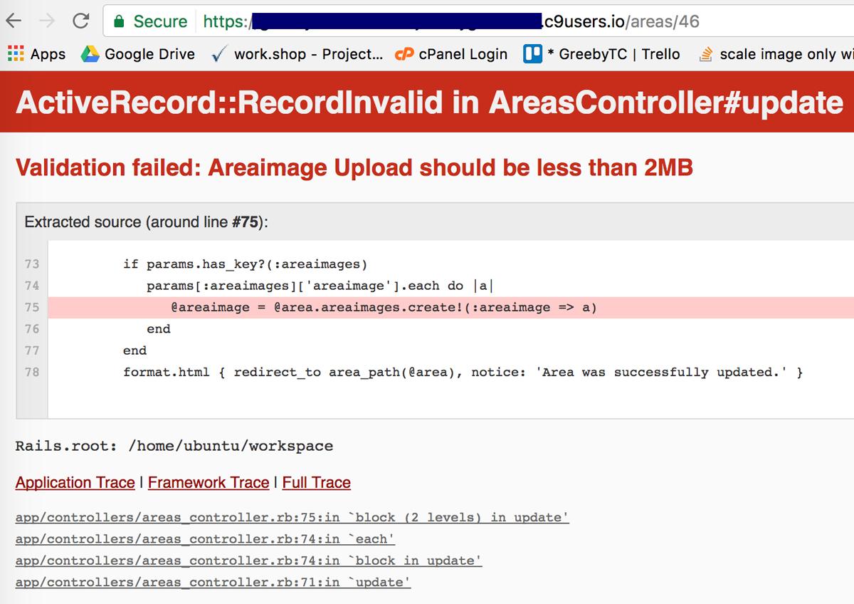 Validation error Upload should be less than 2MB