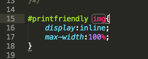 print-friendly css for img max-width