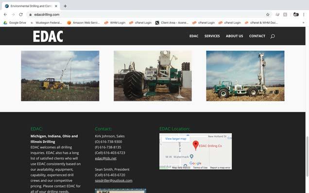 EDAC Drilling Website