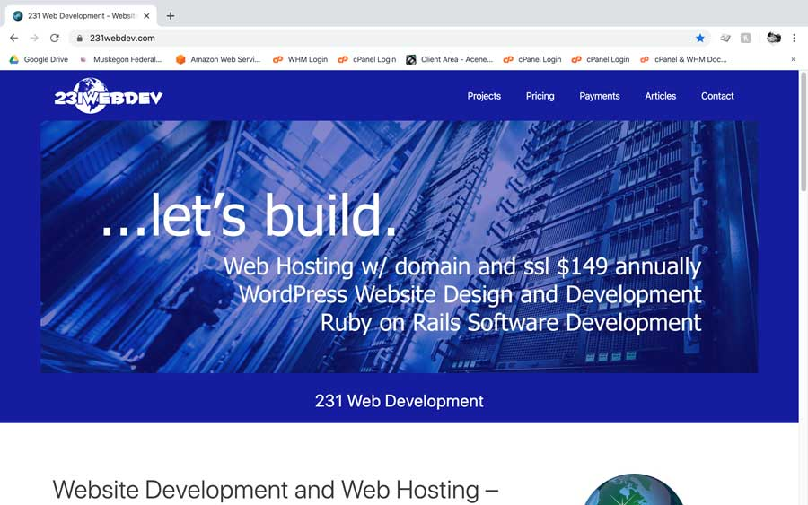 231 Web Dev website screenshot