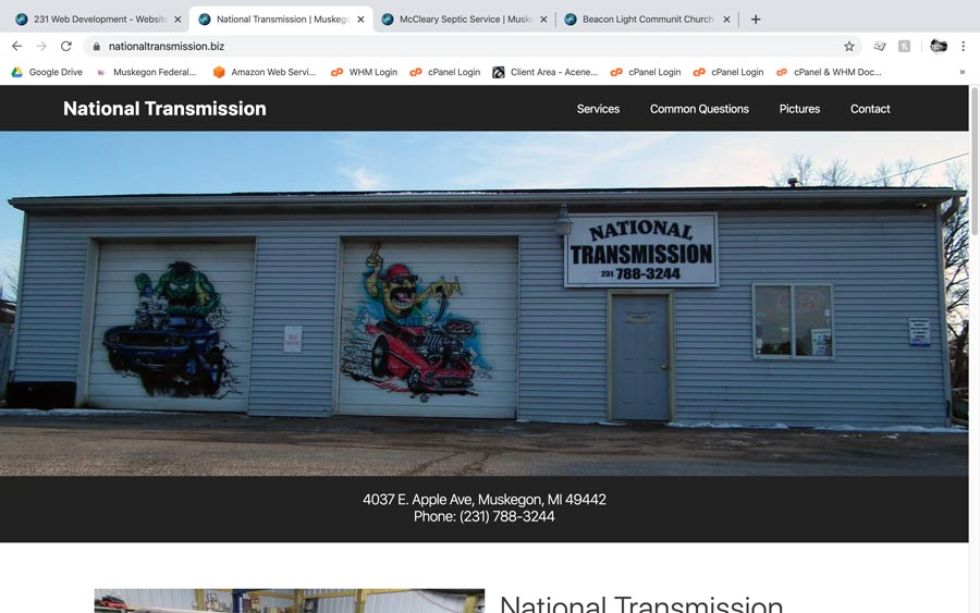 National Transmission screenshot Muskegon, MI
