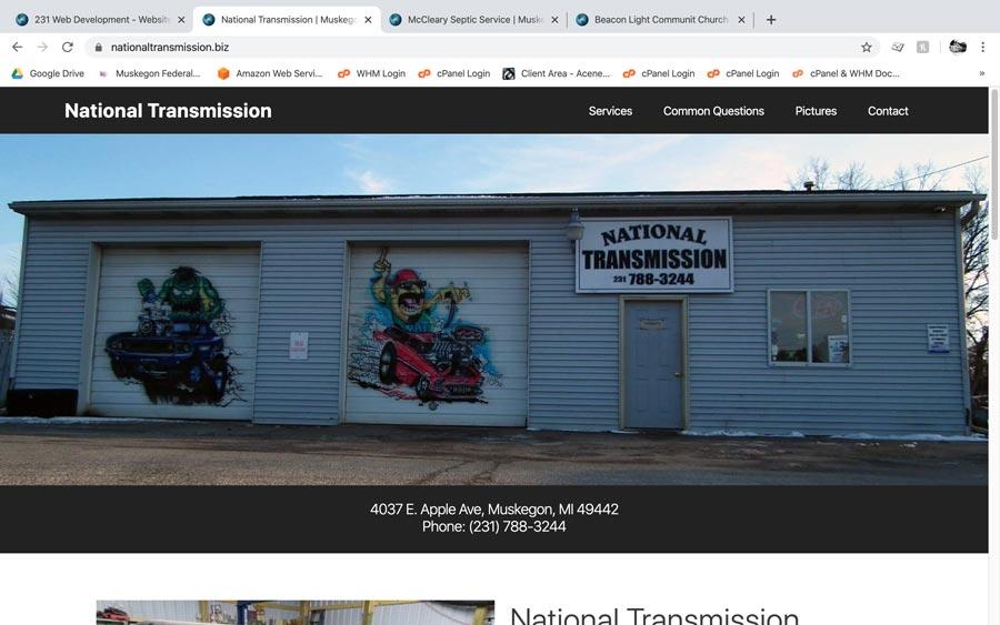 National Transmission screenshot Muskegon, MI