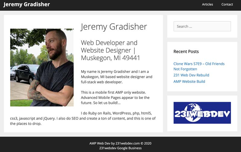 jeremygradisher.com screenshot