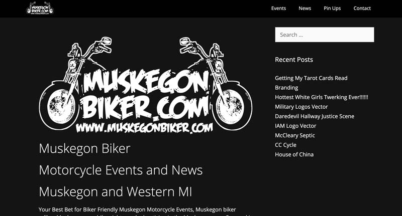 Muskegon Biker website screenshot