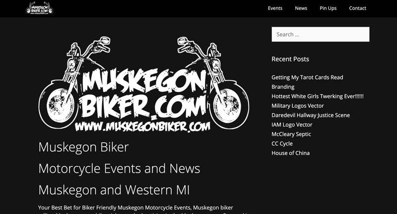 Muskegon Biker website screenshot
